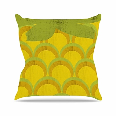 East Urban Home Kathleen Kelly Pineapple Digital Food Outdoor Throw Pillow; 16'' H x 16'' W x 5'' D