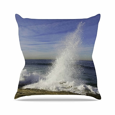 East Urban Home Nick Nareshni Hut w/ Crashing Wave Outdoor Throw Pillow; 16'' H x 16'' W x 5'' D