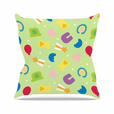East Urban Home Charms of Luck Outdoor Throw Pillow; 16'' H x 16'' W x 5'' D