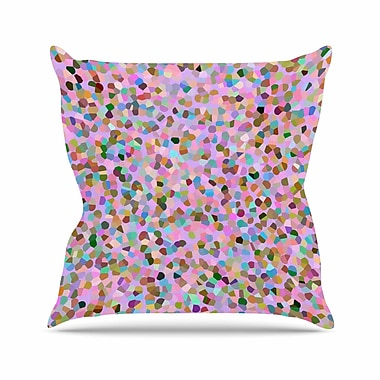 East Urban Home Vasare Nar Candy Confetti Abstract Outdoor Throw Pillow; 16'' H x 16'' W x 5'' D