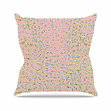 East Urban Home Vasare Nar Peach Lepoard Pattern Outdoor Throw Pillow; 18'' H x 18'' W x 5'' D