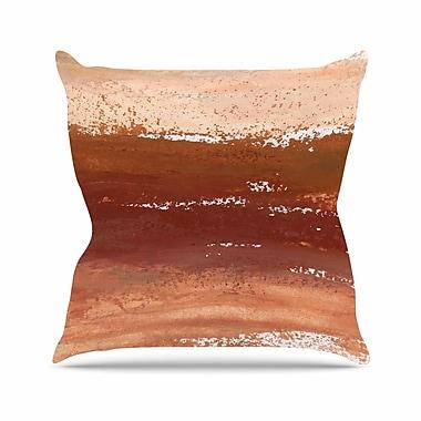 East Urban Home Iris Lehnhardt Cinnamon Chai Painting Outdoor Throw Pillow; 16'' H x 16'' W x 5'' D