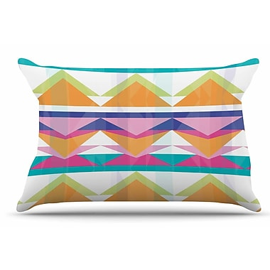 East Urban Home Miranda Mol 'Triangle Waves' Geometric Pillow Case