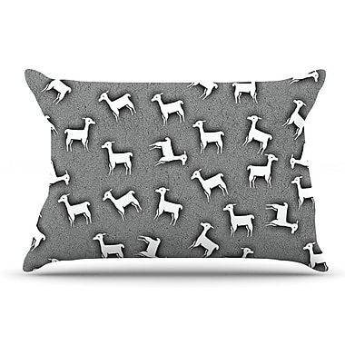 East Urban Home Monika Strigel 'Llama Multi' Pillow Case