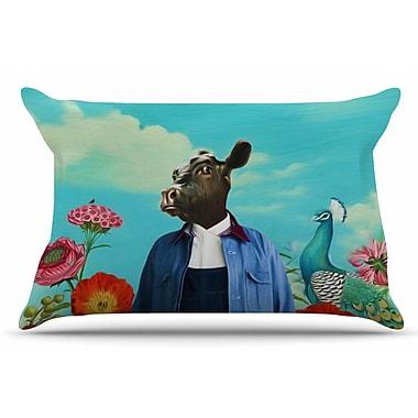 East Urban Home Natt 'Family Portrait N2' Cow Pillow Case