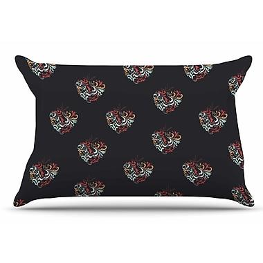 East Urban Home Louise 'Ornament Heart' Christmas Pillow Case