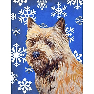 East Urban Home Winter Snowflakes Holiday House Vertical Flag; Cairn Terrier 2