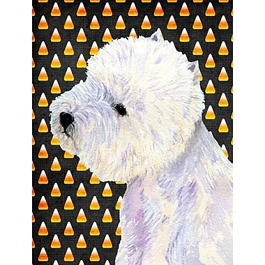 East Urban Home Candy Corn Halloween 2-Sided Garden Flag; Westie 1
