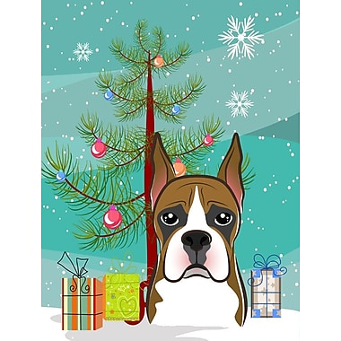 Caroline's Treasures Under The Christmas Tree Vertical Flag; Bernese Mountain Dog