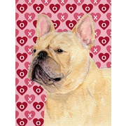 Caroline's Treasures Cooper Love and Hearts Boxer 2-Sided Garden Flag; French Bulldog (Beige)