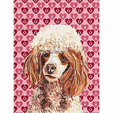 Caroline's Treasures Cooper Love and Hearts Boxer 2-Sided Garden Flag; Poodle (Brown)
