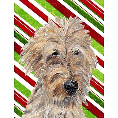 Caroline's Treasures Candy Cane Christmas 2-Sided Garden Flag; Golden Doodle 1