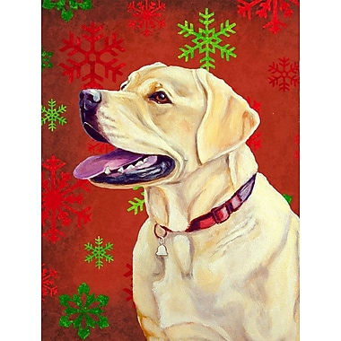 Caroline's Treasures Red and Green Snowflakes Holiday Christmas 2-Sided Garden Flag; Labrador 4