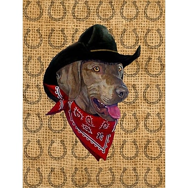 Caroline's Treasures Dog Country Lucky Horseshoe 2-Sided Garden Flag; Weimaraner