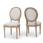 One Allium Way Deepstep Side Chair (Set of 2); Gray Beige