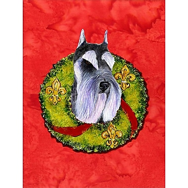 Caroline's Treasures 2-Sided Garden Flag; Schnauzer (Black and Purple)