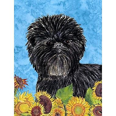 East Urban Home Dog and Sunflowers 2-Sided Garden Flag; Affenpinscher