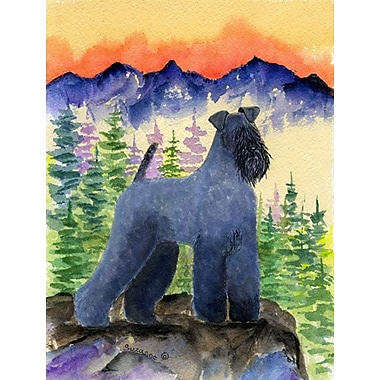 East Urban Home Dog and Mountain 2-Sided Garden Flag; Kerry Blue Terrier