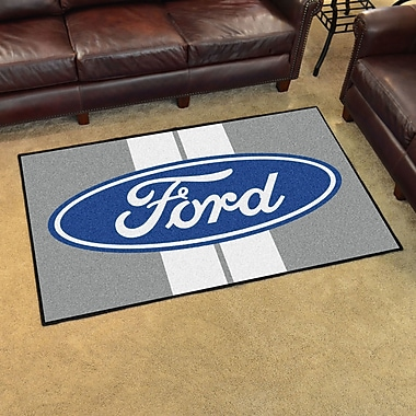 FANMATS Ford - Ford Oval w/ Stripes Tailgater Mat; 4' x 6'