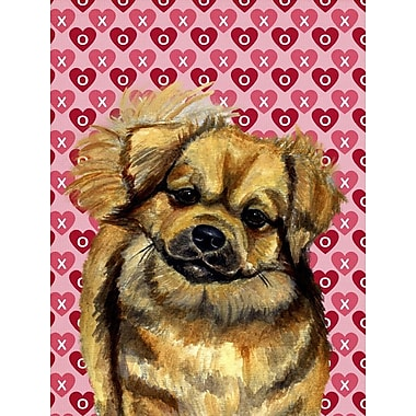 Caroline's Treasures Dalmatian Hearts Love and Valentine's Day House Vertical Flag; Tibetan Spaniel