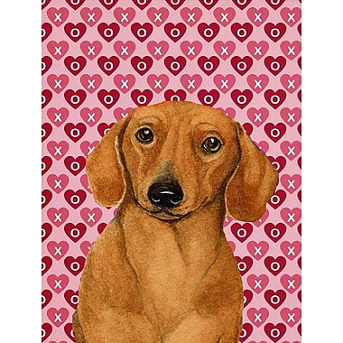 Caroline's Treasures Dalmatian Hearts Love and Valentine's Day House Vertical Flag; Dachshund 2