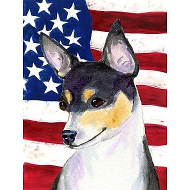 Caroline's Treasures USA American House Vertical Flag; Fox Terrier (Black & White)