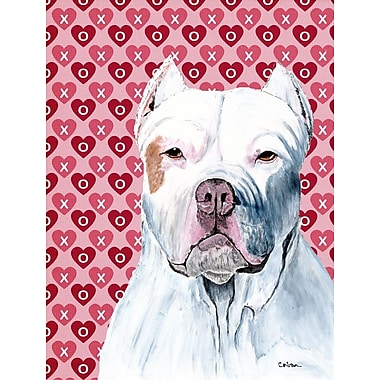 Caroline's Treasures Dalmatian Hearts Love and Valentine's Day House Vertical Flag; Pit Bull