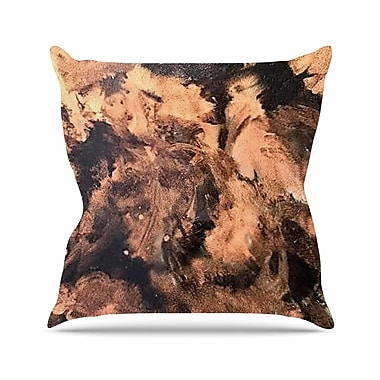 East Urban Home Abstract Anarchy Design King Midas Abstract Outdoor Throw Pillow