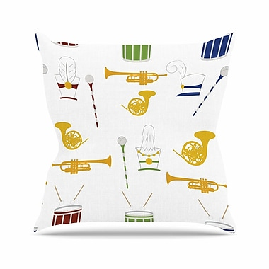 East Urban Home Stephanie Vaeth Marching Band Illustration Outdoor Throw Pillow