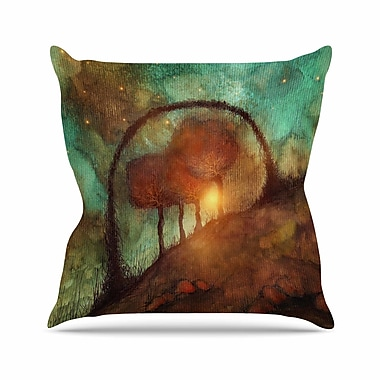 East Urban Home Viviana Gonzalez Track 28: Sunset and Dreams II Outdoor Throw Pillow