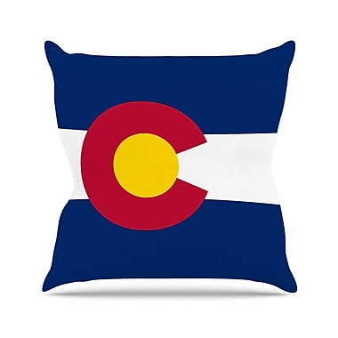 East Urban Home Bruce Stanfield Flag of Colorado II Outdoor Throw Pillow; 16'' H x 16'' W x 5'' D