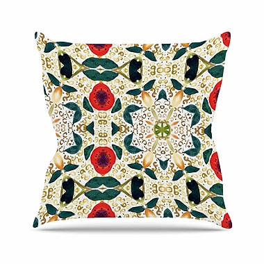 East Urban Home Laura Nicholson Persimmons and Peaches Abstract Outdoor Throw Pillow