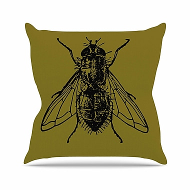 East Urban Home Alias Too Fly Outdoor Throw Pillow; 16'' H x 16'' W x 5'' D