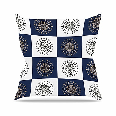 East Urban Home Cristina Bianco Mandalas Outdoor Throw Pillow; 16'' H x 16'' W x 5'' D