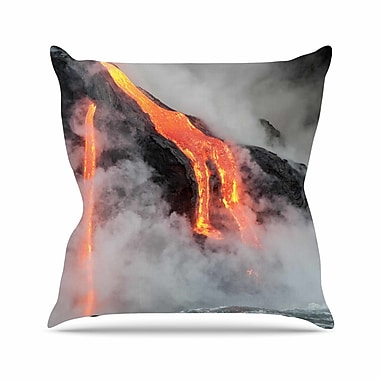 East Urban Home Hawaiian Lava Outdoor Throw Pillow; 16'' H x 16'' W x 5'' D