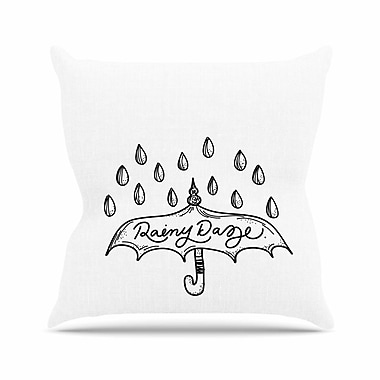 East Urban Home Busy Bree Rainy Daze Outdoor Throw Pillow; 18'' H x 18'' W x 5'' D