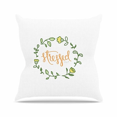 East Urban Home Busy Bree Stressed Out Floral Outdoor Throw Pillow; 18'' H x 18'' W x 5'' D