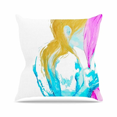 East Urban Home Cecibd Empty People Outdoor Throw Pillow; 18'' H x 18'' W x 5'' D