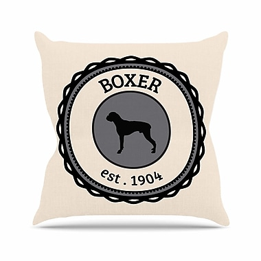 East Urban Home Boxer Dogs Outdoor Throw Pillow; 16'' H x 16'' W x 5'' D