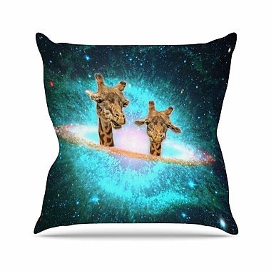 East Urban Home Suzanne Carter Fred & Larry Fantasy Outdoor Throw Pillow; 18'' H x 18'' W x 5'' D