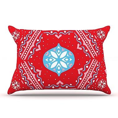 East Urban Home Miranda Mol 'Snow Joy Red' Pillow Case