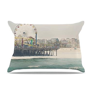 East Urban Home Laura Evans 'The Pier At Santa Monica' Coastal Pillow Case