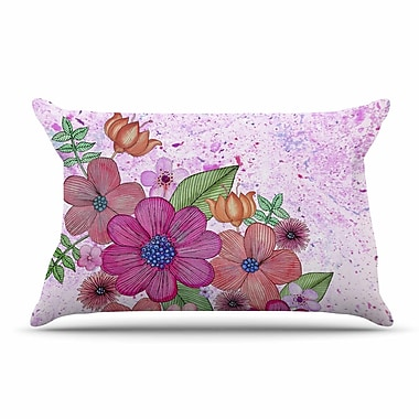 East Urban Home Julia Grifol 'My Garden In Pink' Floral Pillow Case