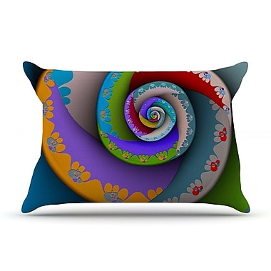 East Urban Home Michael Sussna 'Flor Essence' Rainbow Spiral Pillow Case