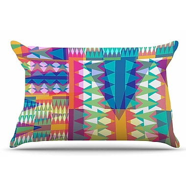 East Urban Home Miranda Mol 'Triangle Quilt' Geometric Pillow Case