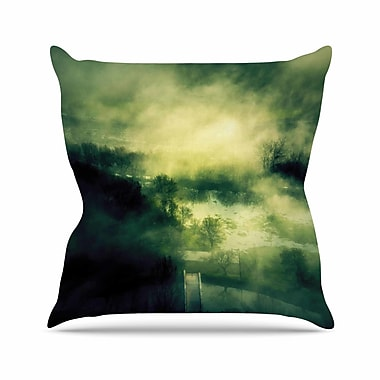 East Urban Home 888 Design Dark Mystical Landscape Outdoor Throw Pillow; 18'' H x 18'' W x 5'' D