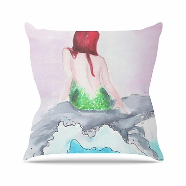 East Urban Home Rebecca Bender Longing to Be Free Fantasy Painting Outdoor Throw Pillow