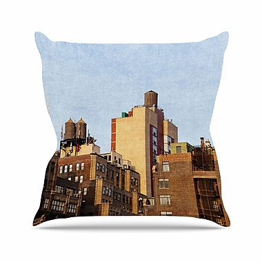 East Urban Home Ann Barnes Vintage NYC Cityscape Outdoor Throw Pillow; 18'' H x 18'' W x 5'' D