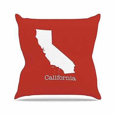 East Urban Home Bruce Stanfield California State Outdoor Throw Pillow; 18'' H x 18'' W x 5'' D