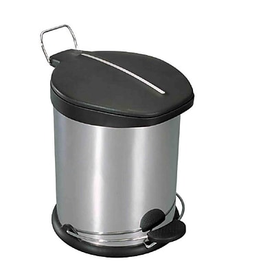 Home Basics 1.3 Gallon Step on Trash Can